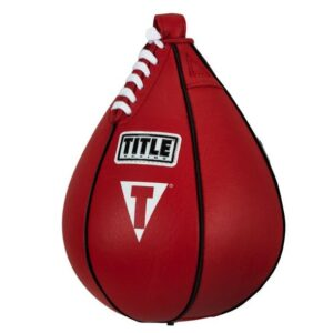 """TITLE Boxing Super Speed Bag 6"""" x 9 """" - Leather Speed Bag"""
