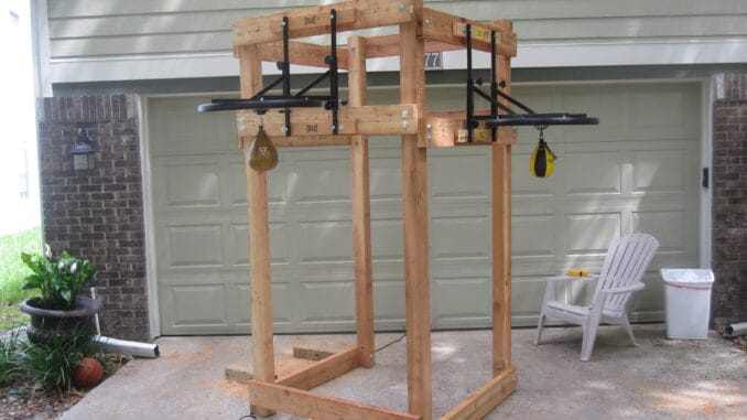 rack for speed bag platforms