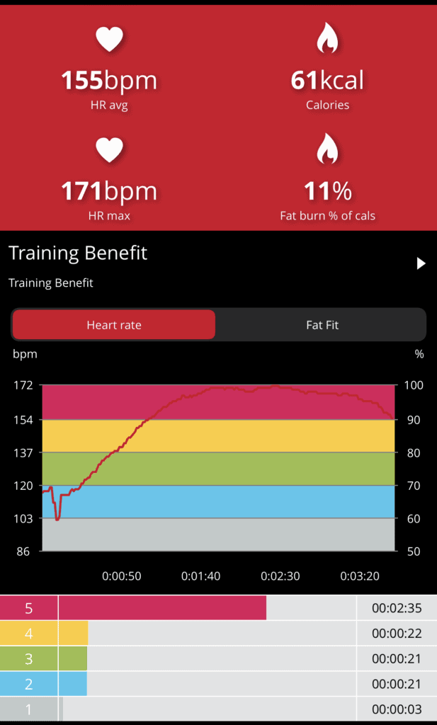 Heart Rate Zone 5 with Big Speed Bag