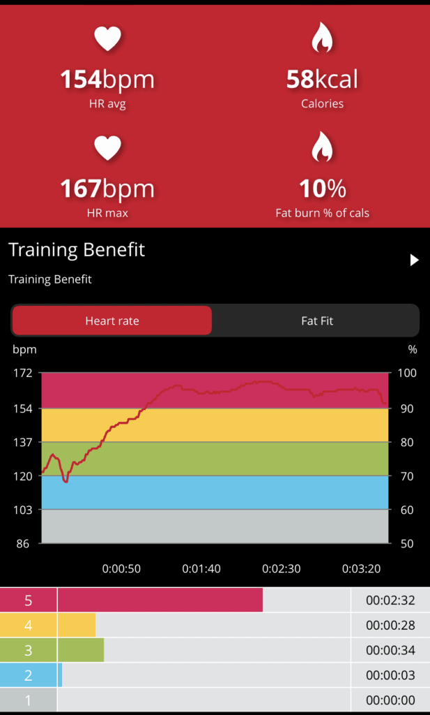 Heart Rate Zone 5 While Punching the Speed Bag Fast